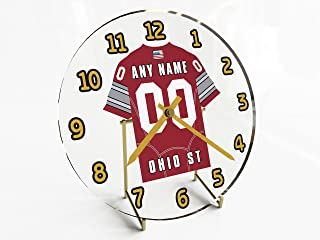 FanPlastic College Football USA - We're Number ONE American Football Desktop/Table Clocks - Support Your Team !!!
