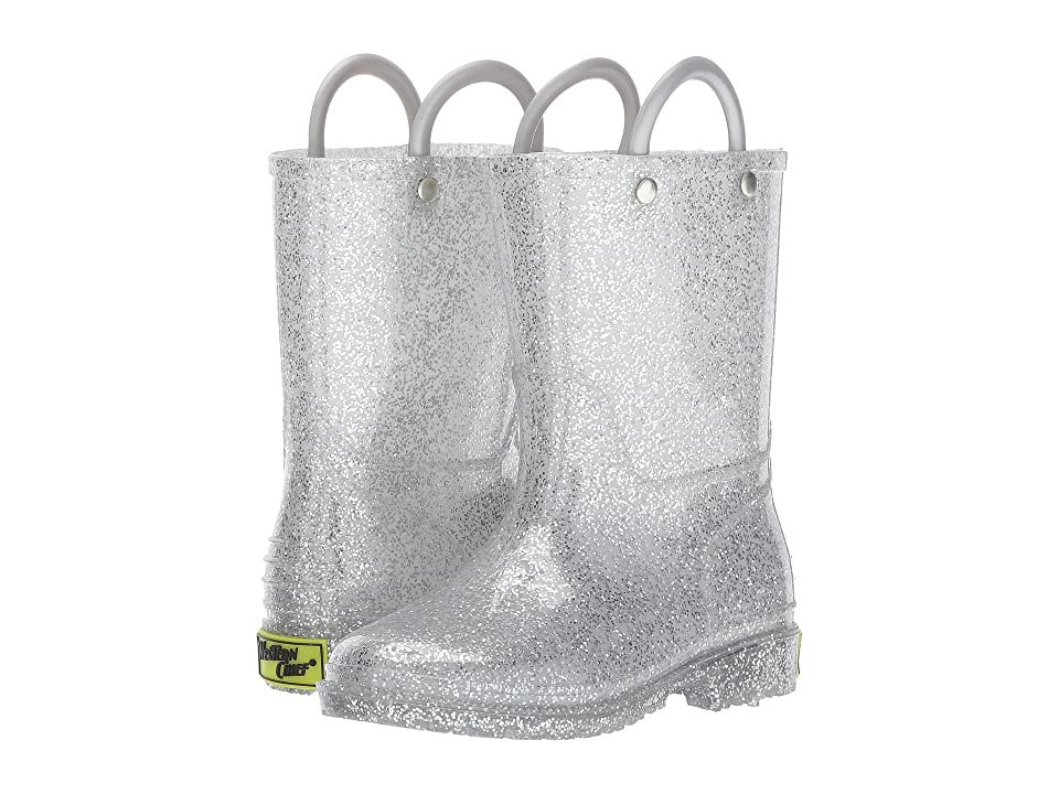 Western Chief Kids Glitter Rain Boots (Toddler/Little Kid) (Silver) Girls Shoes