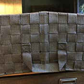 Details about  /Double Woven Basket General Purpose Organizer Kit 3-Pack NEW Espresso Brown