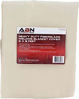 ABN Heavy-Duty Fiberglass Fire Retardant Blanket, 6 x 8ft – Large Welding Fireproof Thermal Resistant Insulation