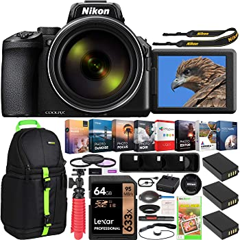 Nikon COOLPIX P950 Compact Digital Camera with 83x Optical Zoom Super Telephoto Lens Bundle Including Triple Battery + Deco Gear Backpack Bag Case + Filter Kit + Photo Video Software and Accessories