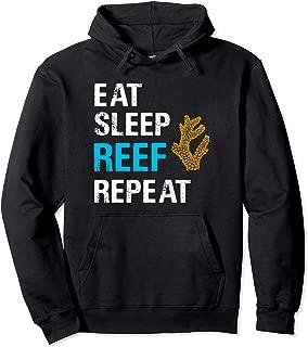 Eat Sleep Reef Repeat Coral Saltwater Aquarium Hoodie