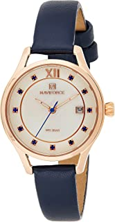 Naviforce Women's White Dial PU Leather Chronograph Watch - NF5010-RGWBE