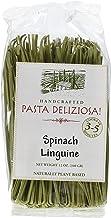 Pasta Deliziosa Handcrafted Pasta, Spinach Linguine, 12 Ounce
