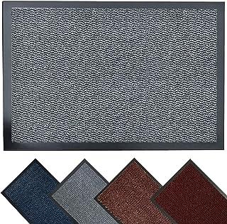 MBH Trends Dirt Trapper Door Mat for Indoor & Outdoor 40×60 cm (Grey) Heavy Duty, Non-Slip Entrance Rug, Washable Barrier ...