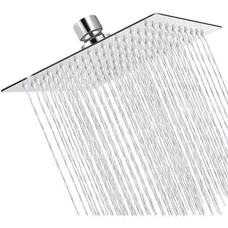 Argento Cromo Ibergrif M20292 Doccia a Pioggia 200 200MM Soffione Quadrato Acciaio