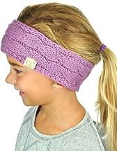 C.C Children's Kids' Winter Warm Cable Knit Fuzzy Lined Ear Warmer Headband