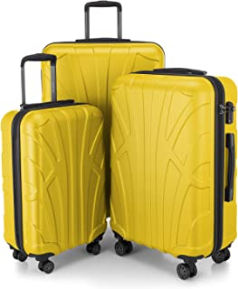 SUITLINE - Set di 3 valigie, Valigie da viaggio, trolley, Valigie con guscio rigido, TSA, (55 cm, 66 cm, 76 cm), 100% ABS,...