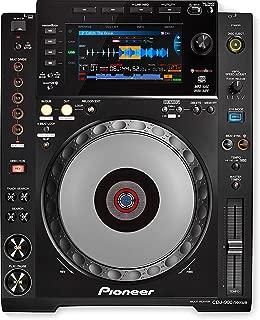 Pioneer DJ CDJ-900NXS Share Pro-DJ Multi Player Digital DJ Deck CD Player with WiFi Playback, Advanced Playback Options BUNDLE with 6 x Pig Hog 10ft MIDI Cable and Zorro Sounds Polishing Cloth