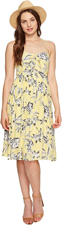 Joss Printed Front Tie Dress