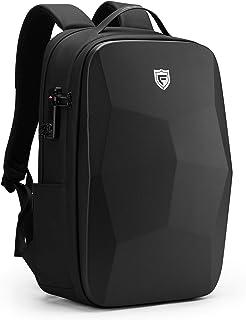 Mochila para portátil de 25 l, 17,3 pulgadas, resistente al agua, para negocios, con puerto de carga USB, antirrobo, con compartimento para portátil para la escuela/viaje/trabajo, color negro