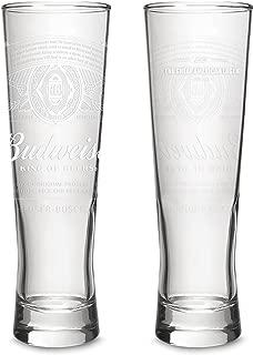 Budweiser 2-Pack Dream Beer Glass, 16oz