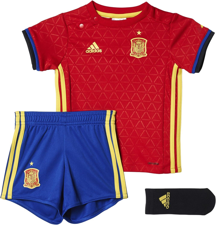 adidas Mini Kit Federación Española de Futbol Conjunto, Unisex niños, Rojo/Azul/Amarillo-(Escarl/AMABRI), 80: Amazon.es: Deportes y aire libre