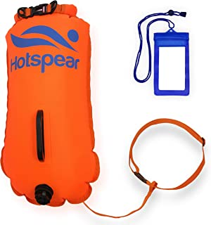 Hotspear Swim Buoy Dry Bag for Open Water Swimmers and Triathletes Swimming Tow Float Durable Nylon