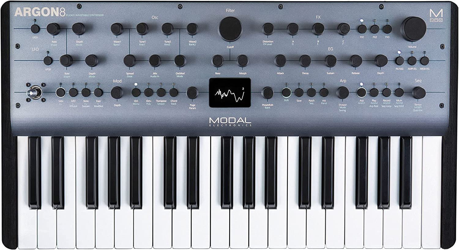 Modal Ranking TOP17 Mail order Electronics Argon8 37-Key Syn 8-Voice Polyphonic Wavetable