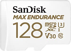 SanDisk 128GB MAX Endurance microSDXC Card with Adapter for Home Security Cameras and Dash cams - C10, U3, V30, 4K UHD, Mi...