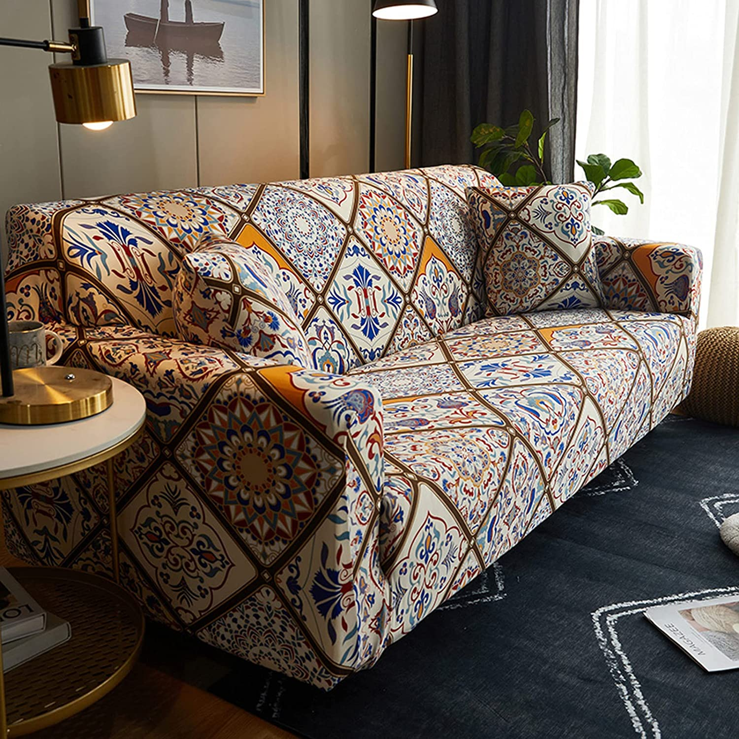 Miami Mall Stretch Couch Slipcover specialty shop Fashionable Cushion Sofa Water