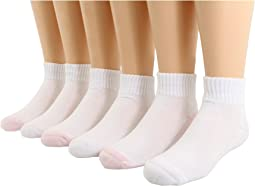 Jefferies Socks - Seamless Sport Quarter Sock, 6 Pack, (Infant/Toddler/Little Kid/Big Kid))