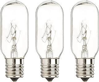 40 Watt Microwave Bulb GE WB36x10003 - Microwave Light - Fits Most GE and Whirlpool Ovens - E17 Intermediate Base Bulb - 40 Watt 130 Volt Appliance Bulb - 3 pack - GoodBulb