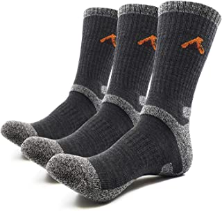 PEACE OF FOOT Hiking Socks boot socks For Mens 6(5+1) Pairs Multi Outdoor Sports Trekking Climbing Camping working Crew Socks