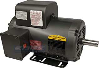 BALDOR 5HP AIR COMPRESSOR ELECTRIC MOTOR, 56HZ FRAME, 3450RPM, 208/230V, SINGLE-PHASE, 7/8
