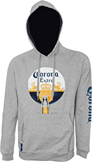 Corona Circle Classic Logo Beer Pouch Hoodie with Bottle Opener