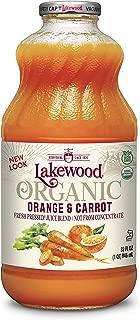 Lakewood Organic Orange Carrot Juice, 32-Ounce Bottles (Pack of 6)