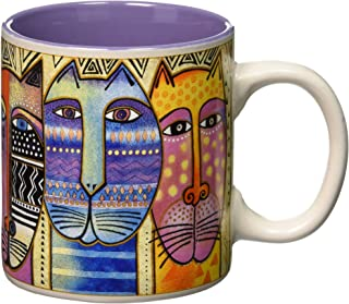 Laurel Burch 117479 Artistic Mug Collection, Tribal, Multicolor