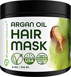 Argan Oil Hair Mask Deep Conditioner - Sulfate Free Conditioning Hair Treatment for Damaged & Dry Hair Repair & Growth All...