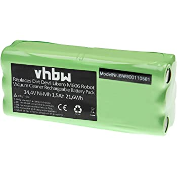 Batterie Ni MH vhbw 800mAh (14.4V) pour robot aspirateur