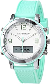 Skechers Women's Silver Dial Silicone Band Watch - SR6001