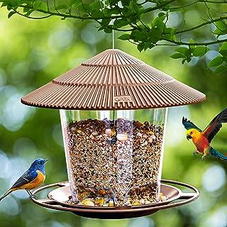 Hanizi Bird Feeders for Outside, Bird Feeder, Wild Bird Seed for Outside Feeders, Squirrel Proof Birds Feeder and Garden D...