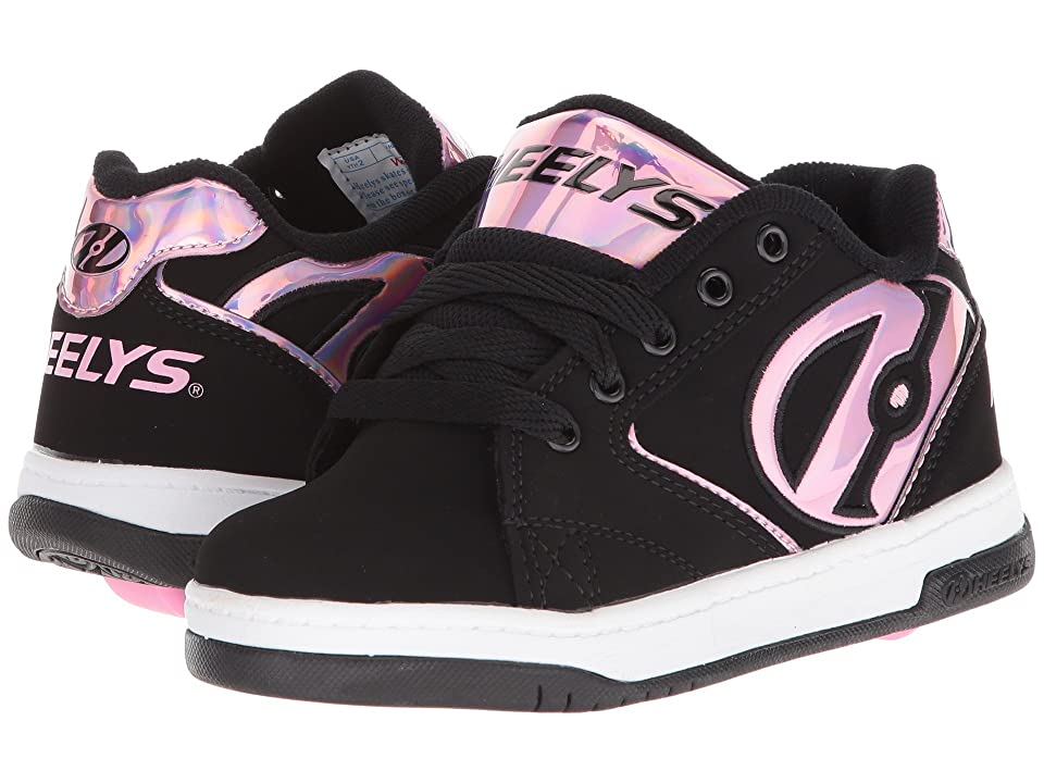 Heelys Propel 2.0 (Little Kid/Big Kid/Adult) (Black/Pink Gasoline) Kids Shoes