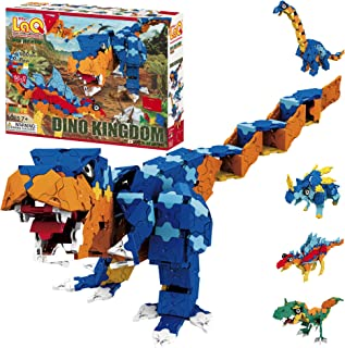 LaQ Dinosaur World Dino Kingdom - 14 Models, 980 Pieces | Amazing Dinosaur Toys | Japanese Building & Construction Toy | A...