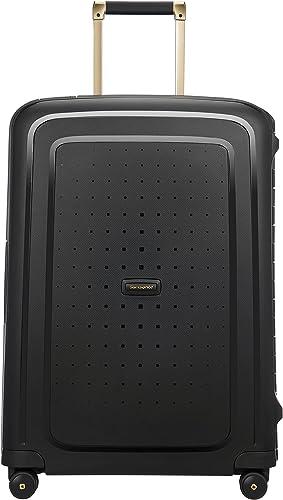 SAMSONITE S'Cure DLX Spinner 69, 4.1 KG Bagage cabine, 69 cm, 79 liters, Noir (Black/Gold Deluscious)