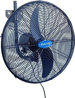 Drip&Fresh C5160 Ventilador Industrial para Nebulización con Soporte a Pared, Regulador de Velocidad de 3 Posiciones, 180º de Orientación, 2 Palas, 130 W, 220/240 V, 50 Hz, Diámetro 50 cm