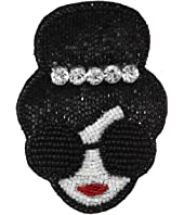 Alice + Olivia - Embellished Stacey Face Crystal Crown Brooch