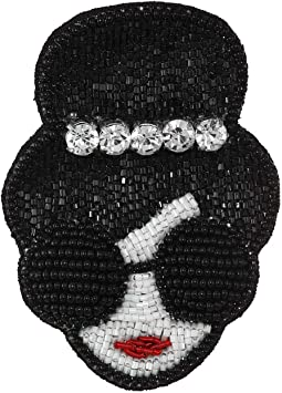 Embellished Stacey Face Crystal Crown Brooch