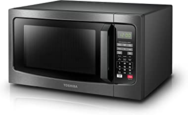 Toshiba EM131A5C-BS Microwave Oven with Smart Sensor Easy Clean Interior, ECO Mode and Sound On-Off, 1.2 Cu. ft, Black Stainl
