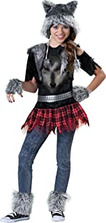 Incharacter Costumes Tween Wear Wolf Costume, Grey/Black/Red, Large