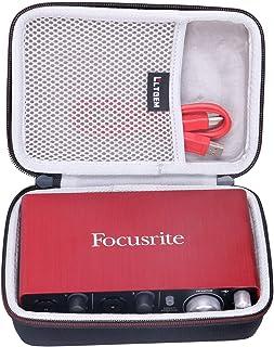 LTGEM Hard Travel Case for Focusrite Scarlett Solo & 2i2 (2nd Gen) USB Audio Interface