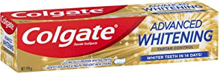 Colgate Advanced Whitening Tartar Control Teeth Whitening Toothpaste, 190g, With Microcleansing Crystals