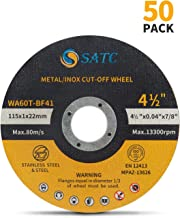 Cutting Wheel 50 PCS Cut Off Wheel Ultra Thin Cutting Disc Metal & Stainless Steel SATC