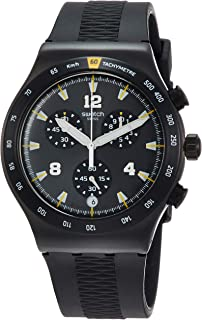 Swatch Men's Chrononero YVB405 Black Rubber Quartz Sport Watch