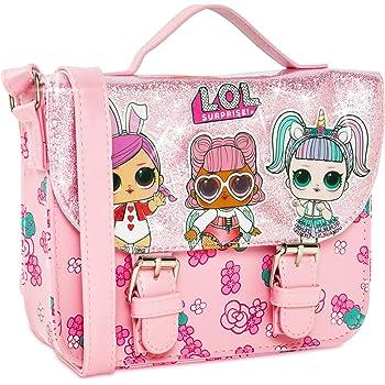 LOL Girls Handbag Glitterati Dolls Black /& Pink Crossbody Fashion Shoulder Bags
