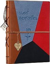 Álbum de recortes de couro ZEEYUAN álbum de viagem vintage álbum de fotos memórias DIY scrapbook recarregável 60 páginas g...