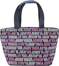 Blue Linesオリジナル 北欧 デザイン フィンランド 幾何学 バッグ口 ジッパーで閉まる バッグインバッグ テキスタイルトートバッグ S