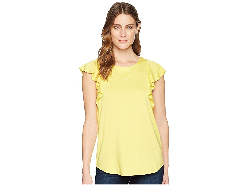 Karen Kane Flounce Sleeve Top (Yellow) Women