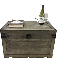 Styled Shopping Newport Large Wood Storage Trunk Wooden Treasure Chest - Gray