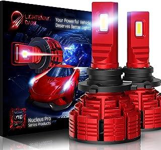 LIGHTENING DARK 9006 HB4 led headlight bulb, 16000 Lumens Extremely Bright Nucleus Pro Conversion Kit - 6500K Cool White